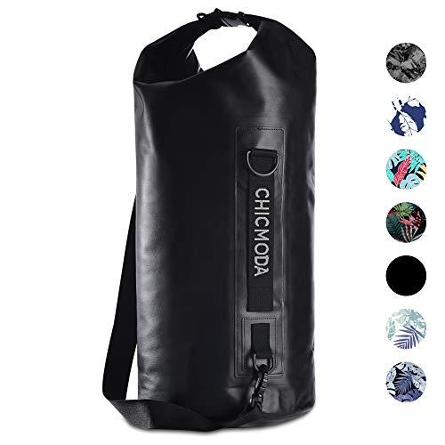 CHICMODA Dry Bag, 10L/20L Leicht Wasserdichte Tasche/Trockensack mit 2 Innentasche mit Reißverschluss und lang Verstellbarer Schultergurt für Boot und Kajak Wassersport