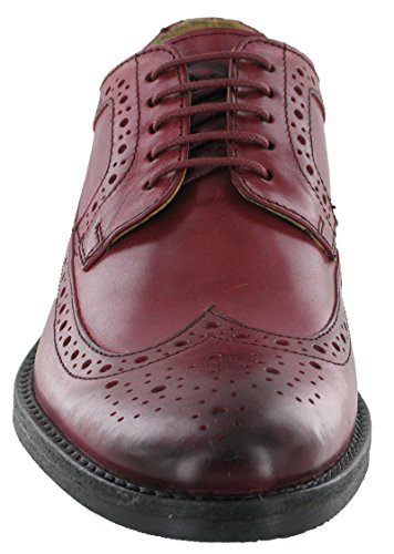 Base London ,  Herren Brogue Schnürhalbschuhe Waxy Bordo