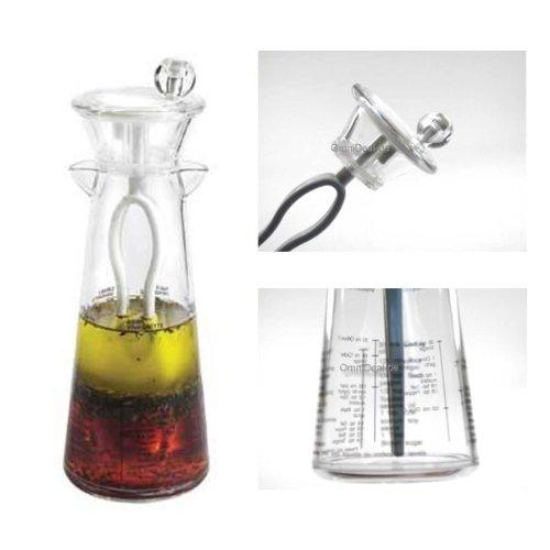 Snail 10451 Dressing-Mixer mit Rezepten auf Karaffe Dressingshaker Salatsoßen Mixer