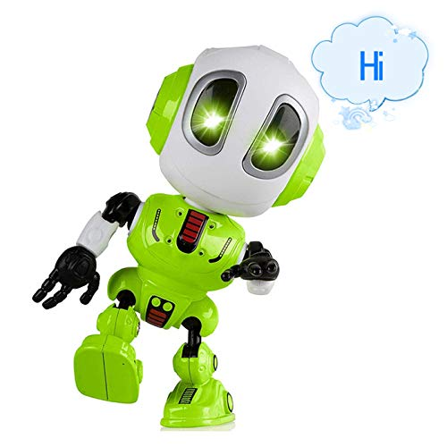 ALLCELE Spaß Aufnahme Reden Roboter für Jungen kleine Kinder Spielzeug, Bildung Spielzeug für Kleinkinder Kinder Geburtstag Geschenke Geschenke für 3-12 Jahre alte Jungen Spielzeug Alter 3-12 (grün) (Jahre Alten Jungen, 9 Spielzeug)