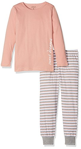 NAME IT Mädchen Zweiteiliger Schlafanzug NKFNIGHTSET Rose TAN NOOS, Mehrfarbig, 140