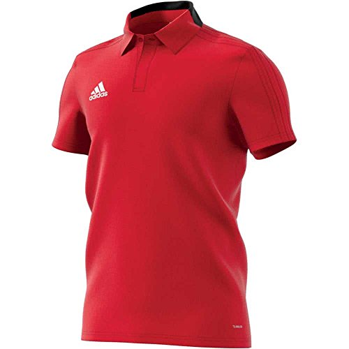 adidas Herren Condivo 18 Cotton Polo Poloshirt, Power Red/Black/White, 3XL (Polo Trocken-power)