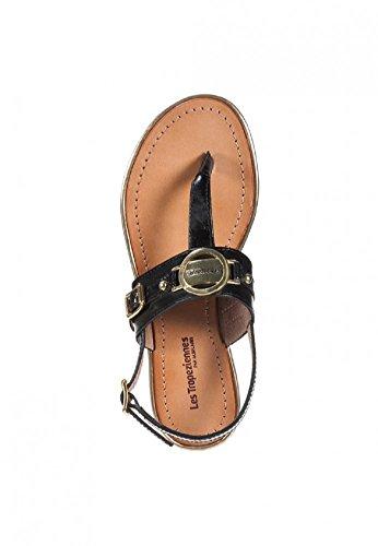 Les tropeziennes sandals bebop femme Marron - Noir