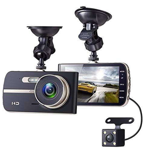 SAN_R 1080P HD Dual Lens Auto DVR Video Sprint Kamera 4 Zoll IPS Display Fahren Recorder (Dual Lens Hd Auto-dvr)