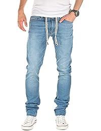 Yazubi Herren Sweathose in Jeansoptik Rick - Skinny Fit - Jogginghose in Jeans-Look