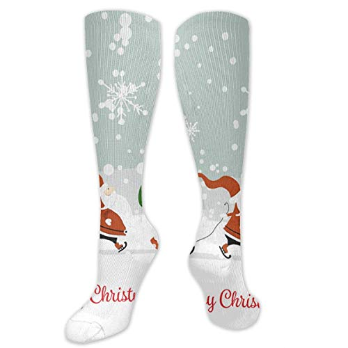 Jxrodekz Knee High Socks Santa Brothers in Winter Forest Christmas Knee High Compression Stockings Athletic Socks Personalized Gift Socks Men Women Teens Girls (Halloween-store In Australien)