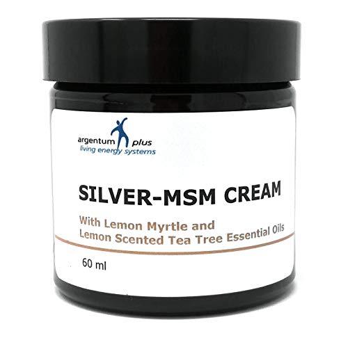 Gesunde Msm Lotion (Silber-MSM Crème mit Zitronenmyrte und Zitronen Teebaum essentiellen Ölen - 60 ml)