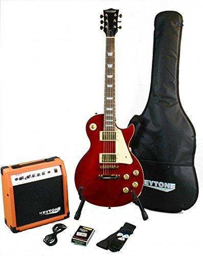 KEYTONE LP-Style Red Metallic Set per chitarra elettrica con amplificatore