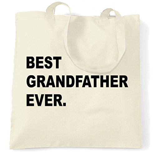 Miglior Nonno mai, nonno Grampa Compleanno, Natale Sacchetto Di Tote Natural