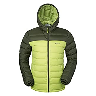 Mountain Warehouse Season Mens Padded Jacket - Water Resistant Jacket, Lightweight, Warm, Lab Tested to -30C, Microfibre Filler - for Winter Travelling, Walking 7