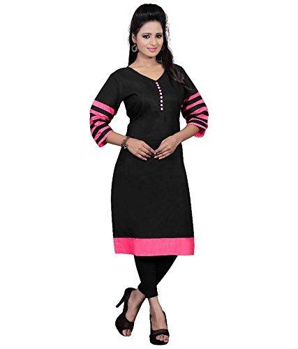 Aika-Womens-Cotton-Kurti-KU011FJ1094-at5Black-PinkFree-Size