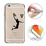 KeKeYM iPhone Série Sports Souple Mince Coque en TPU, Play Basketball, iPhone 7/iPhone 8 4.7 inch