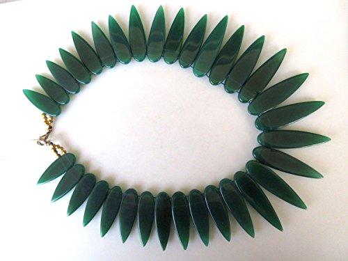 Naturel Onyx vert mise en dégradé à collier, bavoir Collier Col, 34 x 11 mm pour 50 x 13 mm, 43,2 cm, Gds978