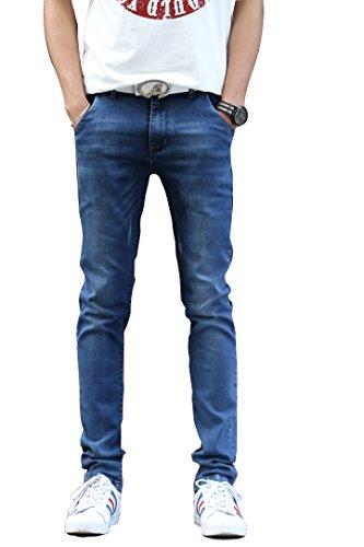 Menschwear Nuovo da uomo Denim Jean stretch Dark Wash slim Tapered (33)