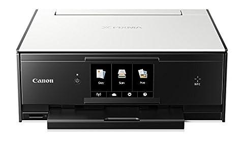 Canon PIXMA TS9050 9600 x 2400DPI Jet d'encre A4 15ppm Wifi Blanc multifonctionnel - multifonctions (Jet d'encre, Colour printing, Colour copying, Colour scanning, Impression, Noir, Cyan, Gris, Magenta, Pigment noir, Jaune)