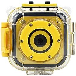 WQYRLJ Enfants Caméra d'action Étanche, Plongée sous-Marine Sports De Plein Air Enfants Cam 1080 Caméscope HD pour Les Garçons Jouets Cadeaux Intégrable Jeu