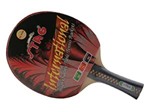 Stag International Table Tennis Set, 1 Racquet, 1 Cover, 2 Balls
