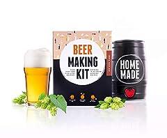 Idea Regalo - Kit Premium Brewbarrel per fare la birra a casa | Kit Brewbarrel per fare la birra artigianale stile IPA | Crea la tua birra artigianale fatta in casa