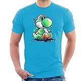 Cloud City 7 Yoshi Watercolour Super Mario Men's T-Shirt