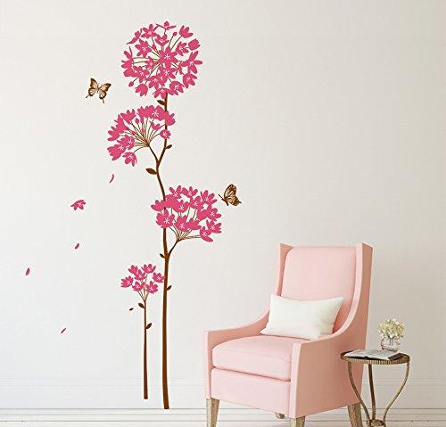 Decals Design 'Flowers Dandelion' Wall Sticker (PVC Vinyl, 70 cm x 50...
