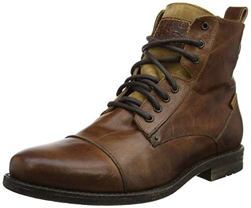 Levis Footwear and Accessories Herren Emerson Biker Boots, Braun (Medium Brown), 45 (Herren Braun Stiefel Sale)