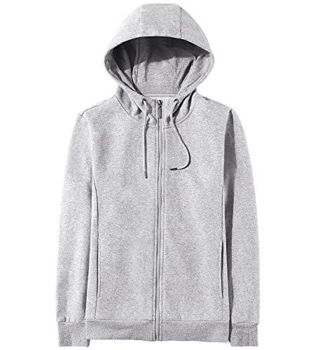 Hoodie Baumwolle Uni Full Zip mit Tasche MEHRWEG L014 ()