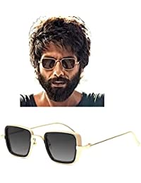 Carlson Raulen Metal Body Silver Square inspired from Kabir Singh Sunglass for Men and Boys