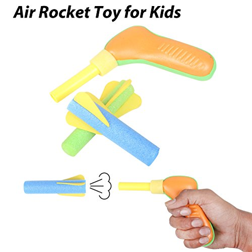 Hand Rocket Toy, Launcher Rocket Toy for Kids, Air Rocket Launch  available at amazon for Rs.199