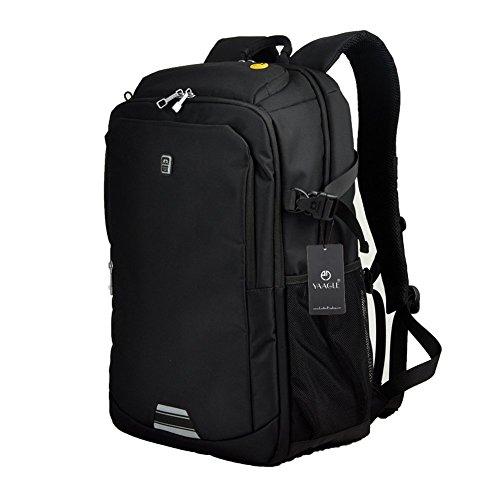 yaagle-sac-dos-unisexe-sport-loisir-ecole-voyage-en-polyester-noir21-pouces