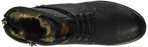 Tom Tailor 1697302, Bottes courtes avec doublure chaude femme Noir (Black)