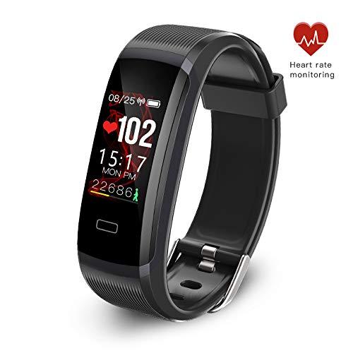 seegar Pulsera Actividad, Rastreador de Actividad Personalizado con Monitor de Ritmo cardíaco y sueño, Contador de Pasos, rastreo de rutas, GPS, Podómetro Impermeable Bluetooth IP67