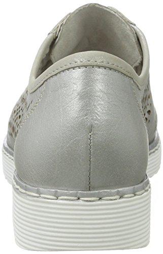 Remonte Damen D3704 Derby Grau (argento/silber/90)