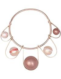 Leivankash Damen-Kropfband Vergoldet Synthetische Perle Perle
