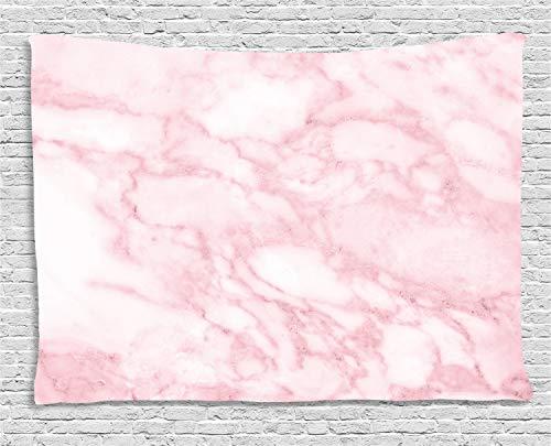 ABAKUHAUS Marmor Wandteppich, Weiche Granit Textur, Wohnzimmer Schlafzimmer Heim Seidiges Satin Wandteppich, 200 x 150 cm, Hellrosa