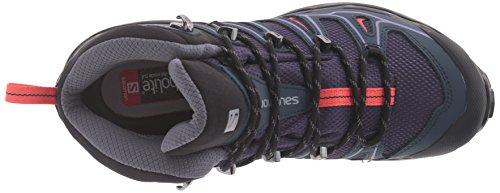 Salomon X Ultra Mid 2 GTX W, Stivali da Escursionismo Donna Grigio (Nightshade Grey/Deep Blue/Coral Pun)
