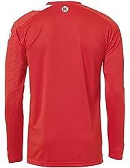 Kempa Peak camiseta de manga larga para hombre de colour rojo (rojo/blanco), color  - rojo / blanco, tamaño XXXL