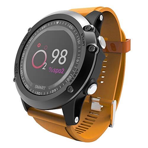 samLIKE Smartwatch Fitness Smart Armbanduhr 丨 Schrittzähler 丨 Pulsuhren 丨 Schlafqualität Rekord 丨 Kalorienzähler 丨 Telefon-Mate 丨 Anrufen/SMS 丨 Remote-Kamera 丨 Wasserdicht IP68 (Orange)