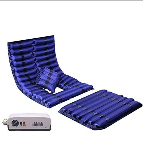 YUXINCAI Medizinischer Patient Ältere Wellen-Bett-Krankenpflege-Anti-Dekubitus-Matratze-Aufblasbare Kissen-Druck-Luft, Zum Der Akne Zu,Blau,190x92cm - Abwechselnd Druck-luft-matratze