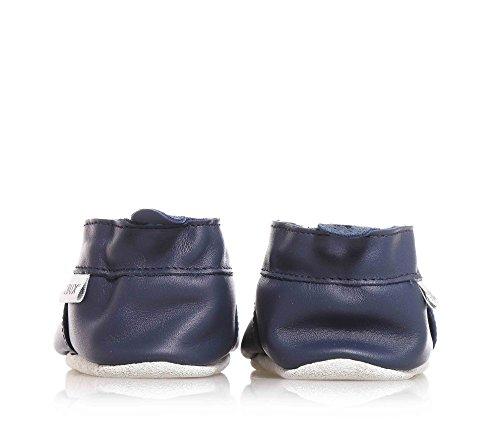 Bobux Car Navy Leather Baby Soft Soles Navy