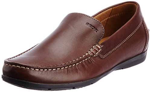 Geox U Simon A, Mocassini Uomo Marrone (DK BROWN C6006)