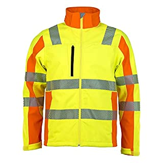 Asatex PTW-DS S 79 Prevent Trend Line Softshell Jacket, Yellow/Orange, Small