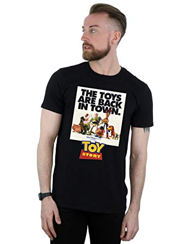Disney Herren Toy Story Movie Poster T-Shirt Schwarz X-Large (Toy Shirt Story Woody Herren)