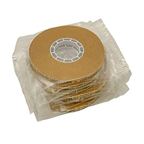 JVCC ATG-7502 ATG Tape: 1/4 in. x 36 yds. (Clear Adhesive on Gold Liner) *core for Scotch 1/4 dispensers [6
