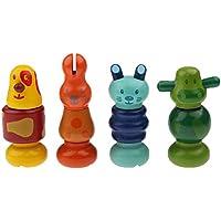 MagiDeal 4 Piezas/Juego Lindo Tornillos Forma de Animal Muñecas Nuts Montado Juguetes Multicolor