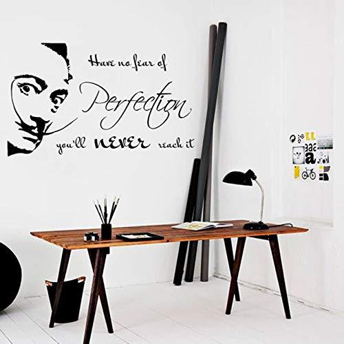 Insprition Quotes Wandaufkleber haben keine Angst vor Perfektion Sie werden es nie erreichen Home Decoration Vinyl Art Removable 89x53cm