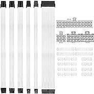طقم تمديد كبل ATX المضفر من KOTTO لطقم كابل إمداد الطاقة ، موصلات PSU ، 24 دبوس ، 8 دبابيس ، 6 دبابيس 4 + 4 دب