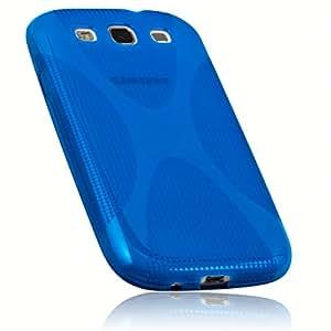 mumbi X-TPU Silikon Schutzhülle für Samsung Galaxy S3 i9300 / S3 Neo halbtransparent blau