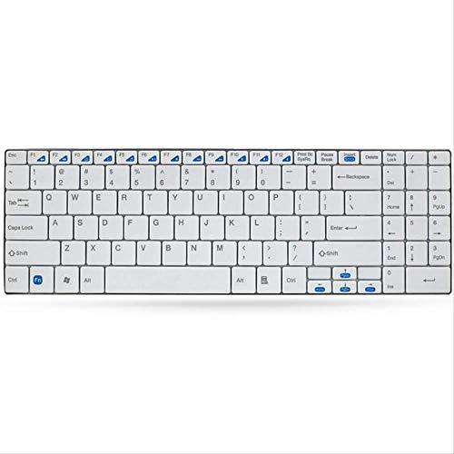 LMDZSW 2.4g Multi-Media-programmierbare 5,6-mm-Ultra-Slim-Wireless-Tastatur für Laptops Desktops PcWhite -