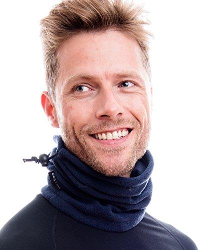 Hilltop sciarpa multifunzionale polar/cappuccio/maschera moto/maschera/schiuma/protezione freddo/maschera facciale/scaldacollo/scaldacollo/100% pile, design/colore:dunkel blau