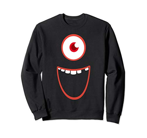 Kostüm Monster Sweatshirt - Halloween Lustiges Monster Gruseliges Kostüm Sweatshirt